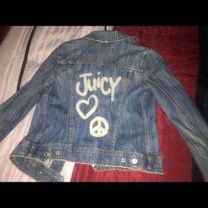 Juicy couture jean jacket Size M